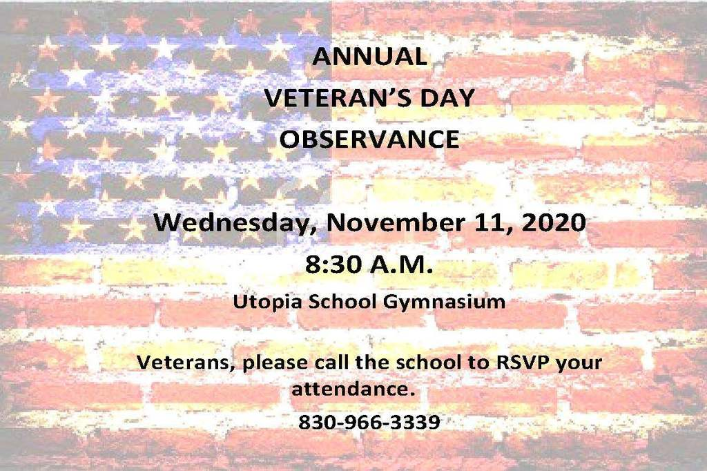 VETERANS' DAY FLYERS